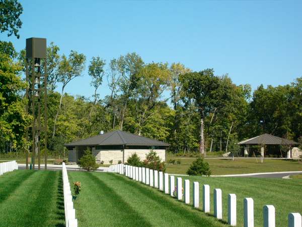 Rock Island National Cemetery Graves Carillon Restrooms Committal Shelter